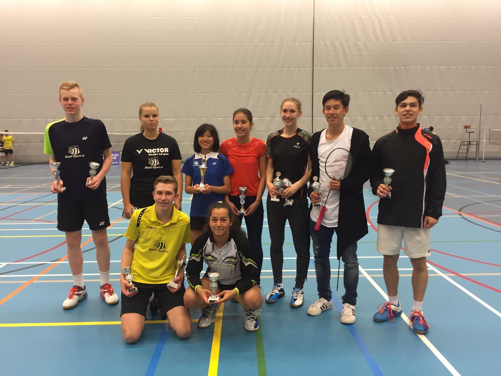 Mooie resultaten BVAlmere tijdens het NJK badminton in ... Badminton Tilburg